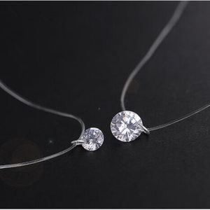 Jewelry - Floating Crystal Zircon Illusion Choker Necklace